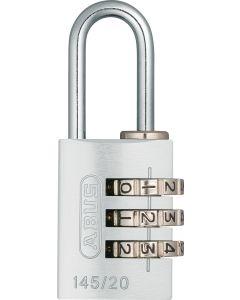 Candado seguridad combinacion programable 20mm plata abus 145/20plata