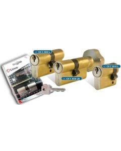 Cilindro leva larga abrepuerta electrico 30x10mm niquel c053010n lince c053010n