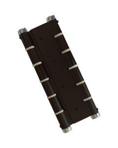 Bisagra puertas vaiven doble accion negra micel aluminio 57002