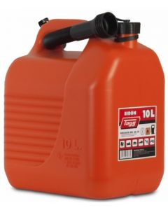 Bidon trasvase liquidos carburante con canula 265x200x307mm 10lt plastico rojo t