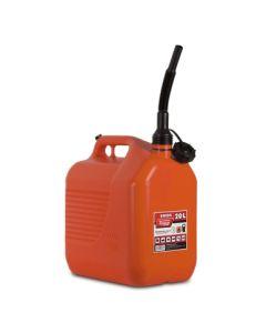 Bidon trasvase liquidos carburante con canula 345x234x377mm 20lt plastico rojo t