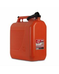 Bidon trasvase liquidos carburante con canula 400x237x464mm 30lt plastico rojo t