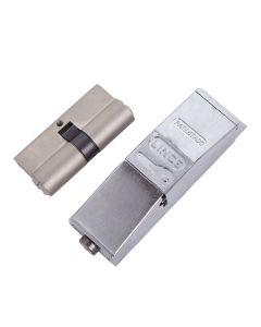 Protector seguridad con cilindro derecha cromo c833232nd lince c833232nd