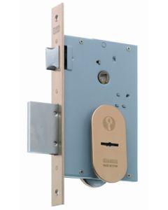 Cerradura seguridad madera embutir 3 puntos 22x9,5x60mm frente u llave borja laton mcm 1808-60
