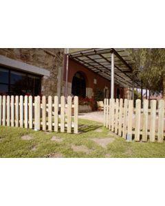 Puerta valla jardin autoclave 80x100cm madera nortene
