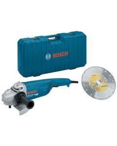 Amoladora profesional maletin 230 mm 2200w gws22-230jh +disco+maletin bosch