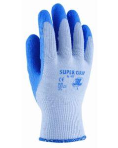 Guante construccion palma latex rugoso m08 poliamida/algodon azul supergrip 3l