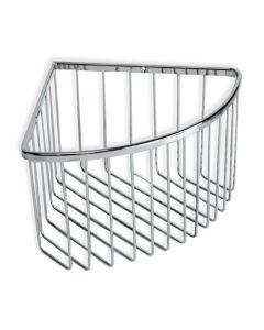 Cestillo baño 20x20x13cm tatay metal cromo rinconera 6606600