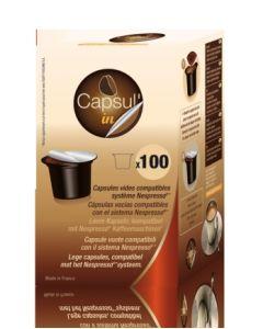 Capsula cafe rellenable nespresso capsul-in 100 pz capsul - in