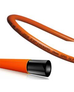 Tubo conduccion gas butano flexible aenor 9x15mm 60mt naranja espiroflex         79190