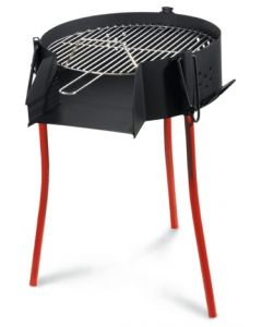Barbacoa carbon redonda paellero 50 cm la ideal