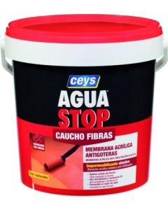 Pintura impermeabilizante caucho acrilico con fibras antigoteras ceys aguastop 5 kg rojo 903301