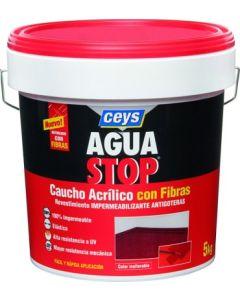Pintura impermeabilizante caucho acrilico con fibras antigoteras ceys aguastop 5 kg terracota 903302