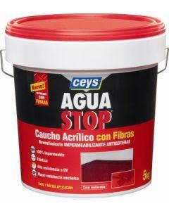 Pintura impermeabilizante caucho acrilico con fibras antigoteras ceys aguastop 5 kg gris 903303