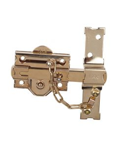 Cerrojo sobreponer bombillo 50mm 80mm dorado 301-r fac 01112