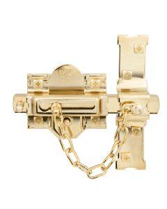 Cerrojo sobreponer bombillo 50mm derecha 80mm dorado 307-r fac 01158