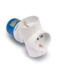 Adaptador electricidad tt 16a-250v industrial blanco famatel triple 13913