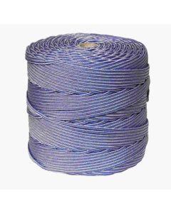 Cuerda fijacion trenzada 05mm 200 mt polipropileno blanco/azul hyc 4102050200