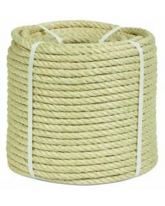 Cuerda fijacion torcida 4 cabos 18mm 100 mt sisal natural hyc 1000180100