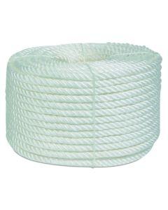 Cuerda fijacion torcida 4 cabos 12mm 100 mt polipropileno blanco hyc 4000120100