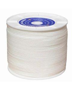 Cuerda fijacion trenzada 05mm 400 mt polipropileno blanco hyc 4108050400
