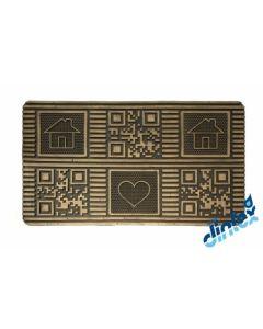 Felpudo decoracion rectangular 45x75cm alegro dintex 55059