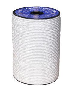 Cuerda fijacion trenzada 05mm 200 mt poliester blanco hyc 5546050200