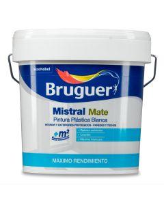 Pintura plastica mate interior 4 lt blanco mistral bruguer 262000031