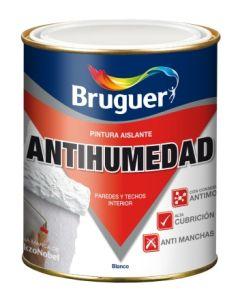 Pintura antihumedad mate sintetica 4 lt blanco bruguer