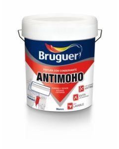 Pintura plastica mate antimoho 4 lt blanco bruguer