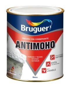 Pintura plastica mate antimoho 750 ml blanco bruguer