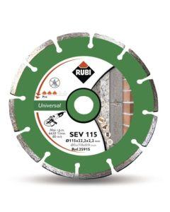 Disco corte general obra segmentado 115 mm basic l sev 115 rubi 25915