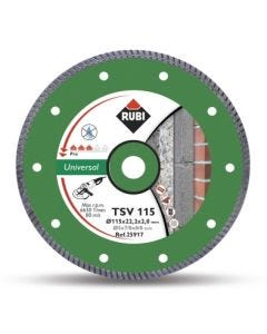 Disco corte general obra 115 mm basic line tsv 115 rubi 25917