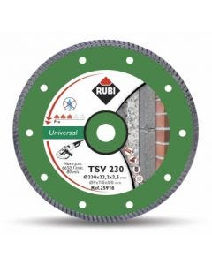 Disco corte general obra 230 mm basic line t230-bl rubi 25918