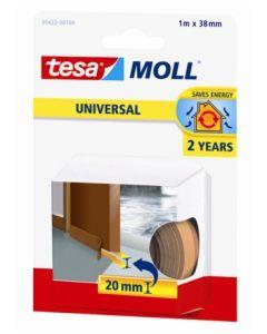 Burlete bajo puerta tira adhesiva 38mmx01mt caucho marron tesa tape 05422