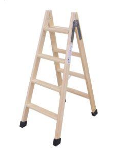 Escalera industrial doble 6 peldaños 1,50mt madera escaleras climent