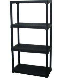 Estanteria ordenacion 4 baldas 1330x610x300mm plastico negro art plast