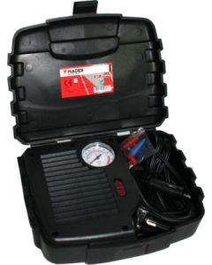Compresor presion mini manometro 12v maletin 250psi mader