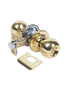 Pomo puerta entrada picaporte unificado 60/70mm laton pulido 3900u0lp tesa