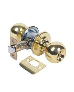 Pomo puerta baño picaporte unificado 60/70mm laton pulido 3903u0lp tesa