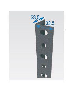Angulo estanteria ranurado p35 2,5 mt metal galvanizado simonrack 70113525015                 88306