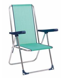 Hamaca playa aluminio/fibreline azul verdoso alco