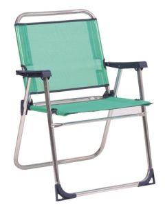 Sillon playa fijo aluminio/fibreline azul verdoso alco