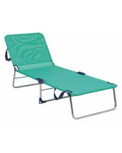 Cama playa aluminio/fibreline azul verdoso alco