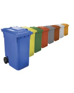 Contenedor basura con ruedas tapa 360 lt plastico verde w-weber 04011 verde