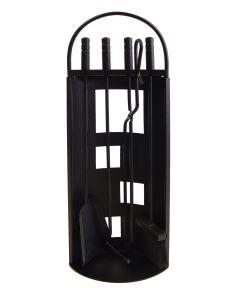 Juego chimenea calefaccion utiles negros arco chapa 4pz imex el zorro 4 pz 10014