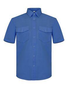 Camisa trabajo manga corta dos bolsillos vesin azul p29az40                  cf-91488