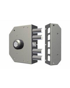 Cerradura seguridad sobreponer entrada 60mm 130x164x32mm derecha cierre lateral cromada cr 3050-cro.-d