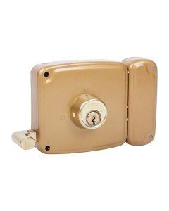 Cerradura sobreponer picaporte y palanca derecha 100x50mm hierro barnizado 4125hb010d ucem 4125  hb010d