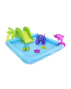 Piscina hinchable infantil rectangular con accesorios 239x206x86cm plastico best 95633